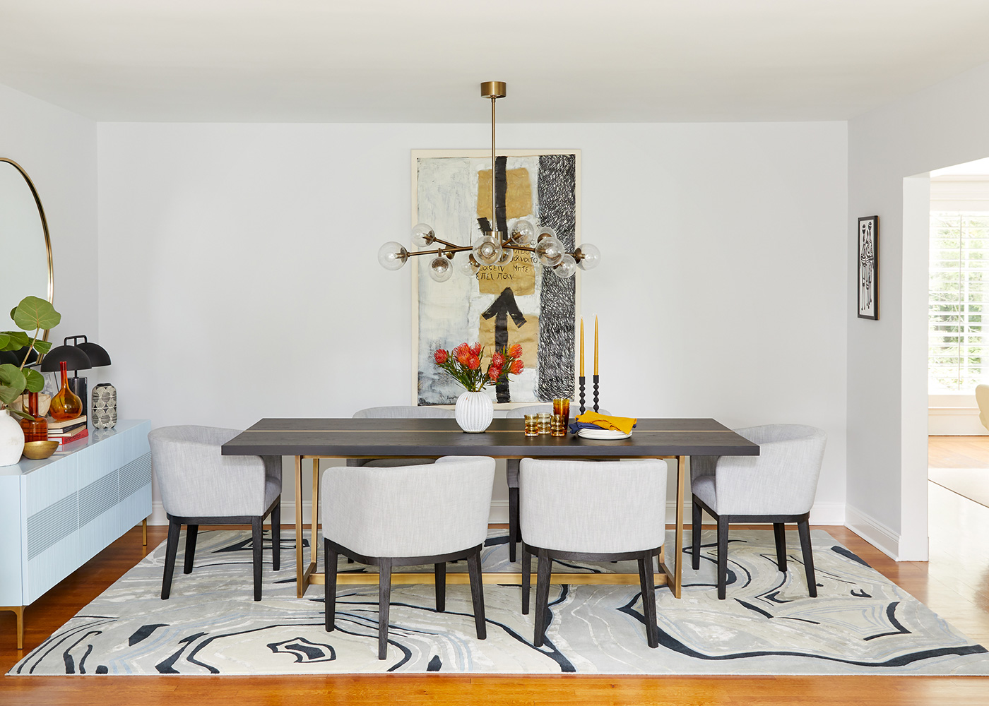 Laurie Blumenfeld Design Art Inspired Custom Dining Room Details
