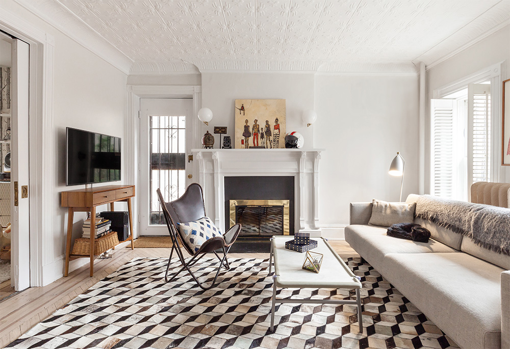 Laurie Blumenfeld Design Brooklyn-Heights-Garden Apartment Living Room