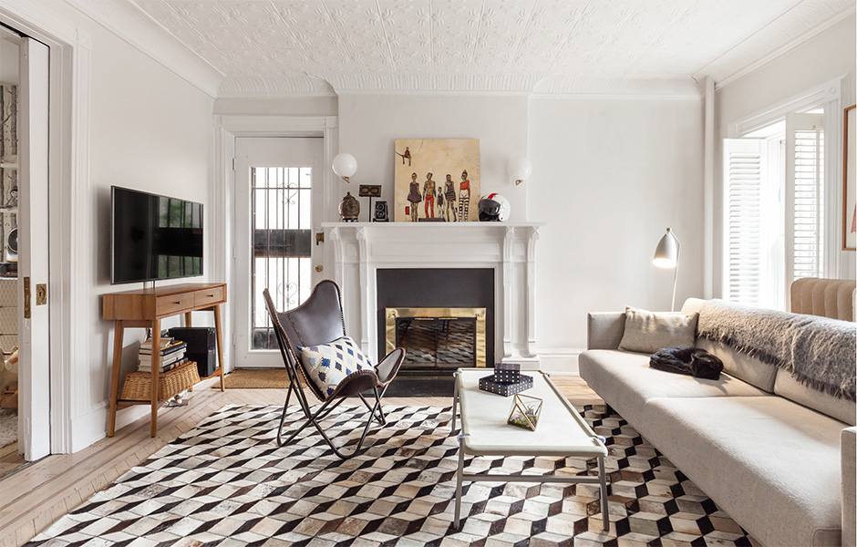 Laurie Blumenfeld Design Brooklyn-Heights-Renovation GARDEN APARTMENT LIVING ROOM