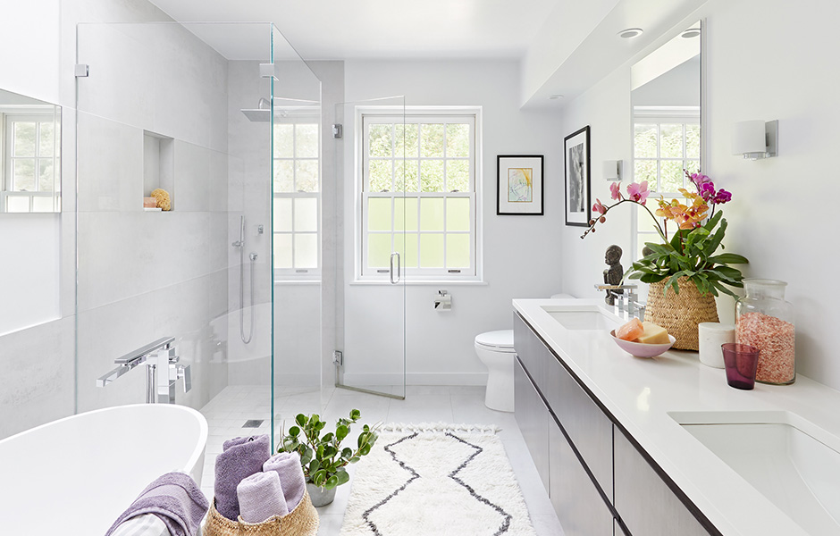 Laurie Blumenfeld Design Westchester-Modern Master Bath Renovation