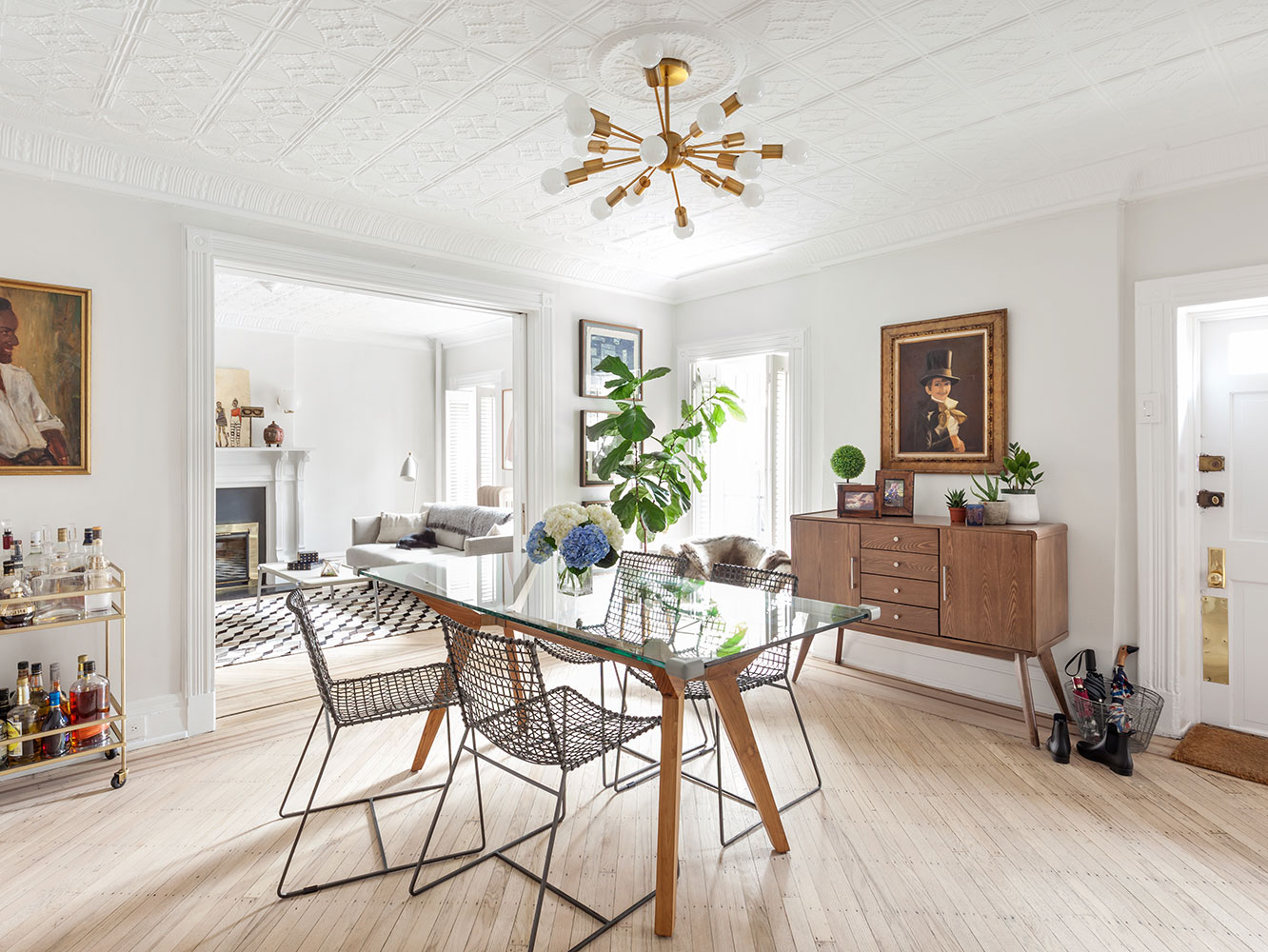 Laurie Blumenfeld Design Brooklyn Heights Garden Apartment Modern Dining Room