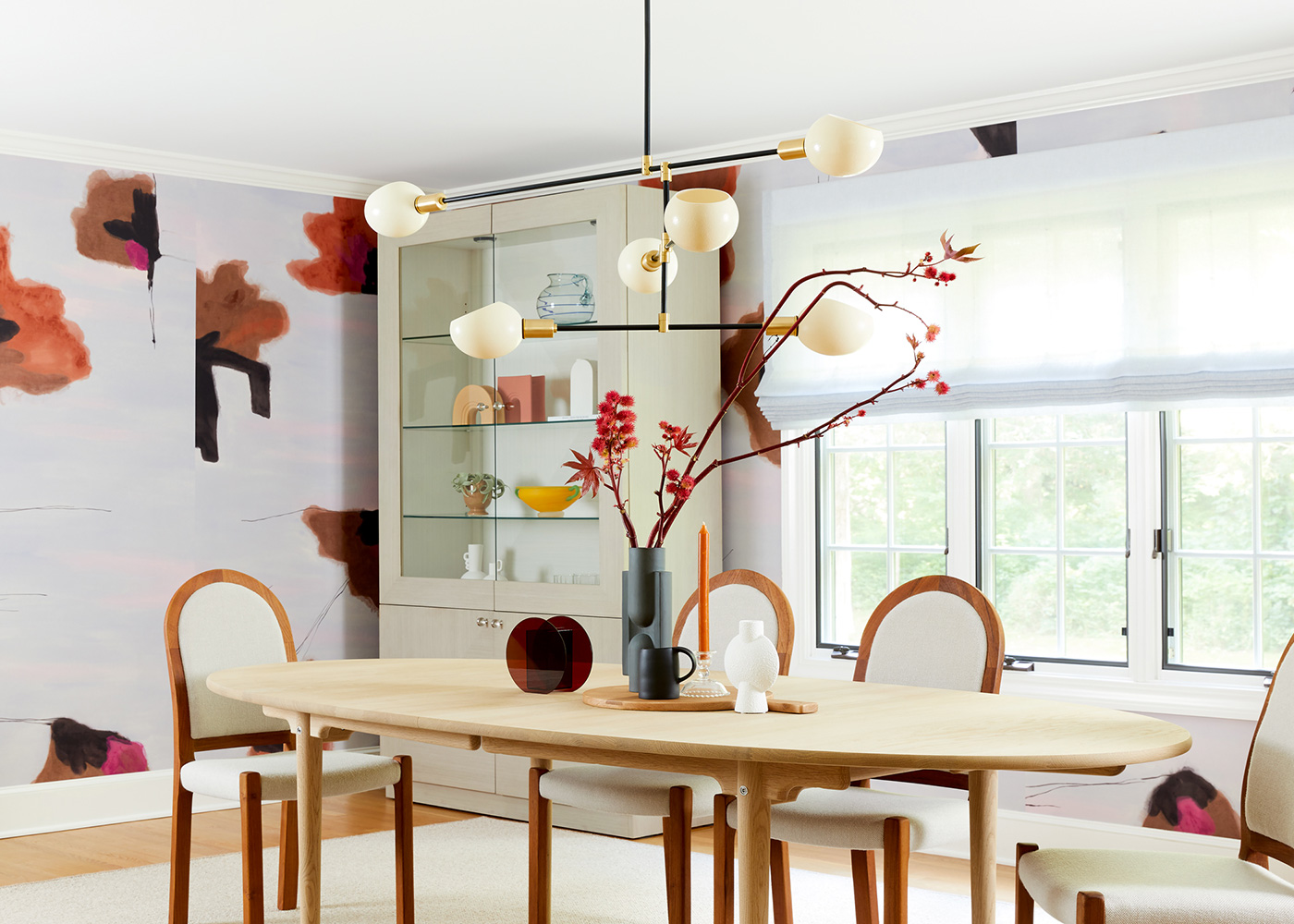 Bold Contemporary Dining Room Interior Design CT by Laurie Blumenfeld Design
